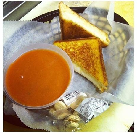 The Grilled Cheese and Crab Cake Co. :                   classic! grilled cheese and tomato soup