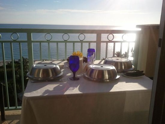 The Ritz-Carlton Key Biscayne, Miami:                                                       breakfast on the patio