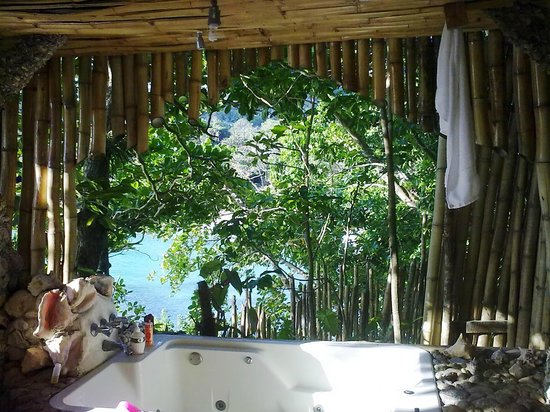 Great Huts:                   View from Bathroom