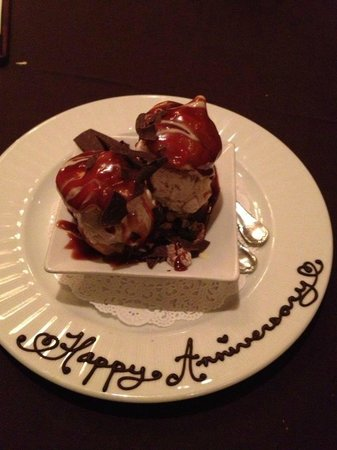 Royal Park Hotel:                   Anniversary Dessert Compliments of the Staff at Royal Park