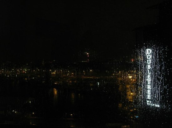 DoubleTree by Hilton Hotel Amsterdam Centraal Station:                   Rainy New Years Eve but Great View Just the Same