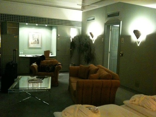 Lindner Grand Hotel Beau Rivage:                   suite view from bed