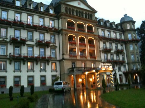 Lindner Grand Hotel Beau Rivage:                   hotel lights up at night