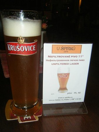 Restaurace Spirku: Krusovice unfiltered lager...:)