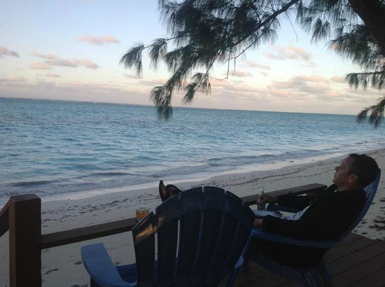 Hollywood Beach Suites Turks and Caicos:                   View from the deck...whiling away the hours :)
