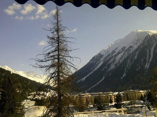 Hotel Seehof Davos: View from our Twin Share room with balcony