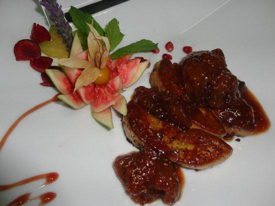 Pascal Le Restaurant:                   foie gras con confituras de higos casera