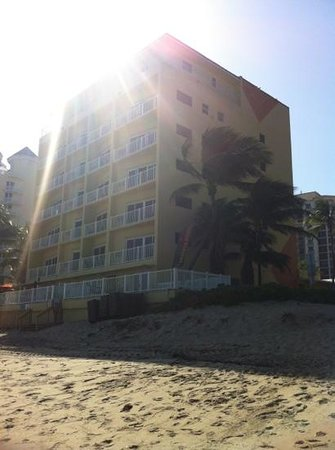 Sun Tower Hotel & Suites on the beach:                   beach view