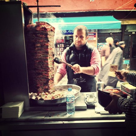 Culinary Backstreets -Tours :                   A doner stand along the tour