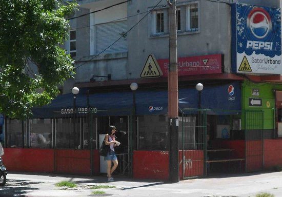 Sabor urbano:                   Outside of restaurant