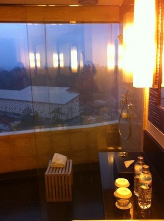 Sensa Hotel:                   Shower room with a view