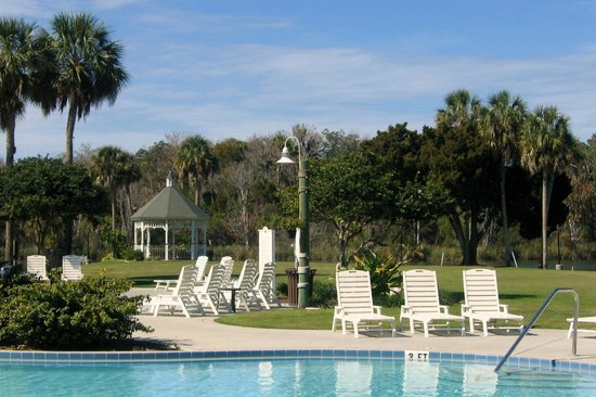 Plantation on Crystal River:                   Pool with gazebo in background