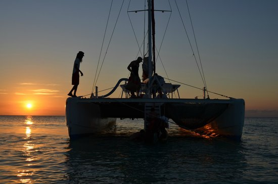 Couples Swept Away:                   catamaran sunset cruise