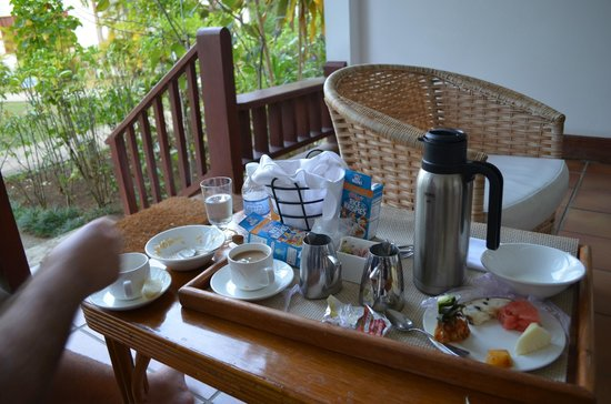 Couples Swept Away:                   Breakfast on balcony