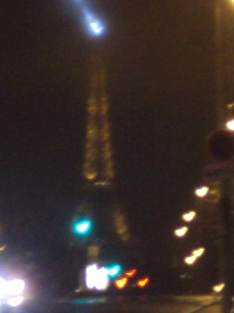 Hotel Catalogne Paris Gare Montparnasse:                   Eiffel Tower taken from outside the hotel!!!