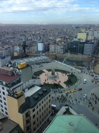 The Marmara Taksim: view of the square from 1505, and some of the construction work in 2013