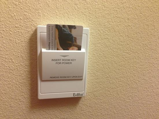 Homewood Suites University City:                   Power in room activated by room key