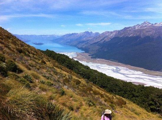 Kinloch Lodge:                   Climbing nearby Mt Alfred - 6 hours up & down but worth it!