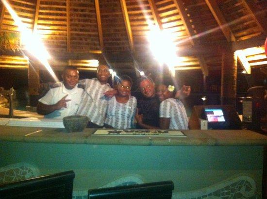 Sonaisali Island Resort Fiji:                   Pool Bar & staff