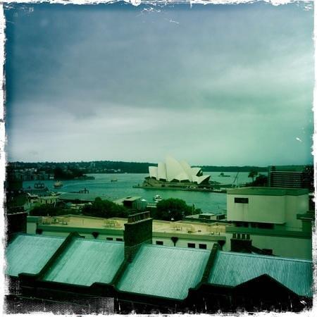 Sydney Harbour YHA:                   sicht von Dachterasse