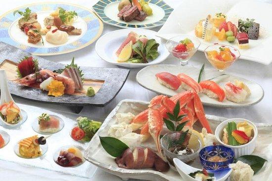 Yunokawa Prince Hotel Nagisatei: Buffet dinner