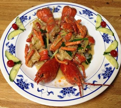 Chef Leu's House:                   ginger & scallion lobster