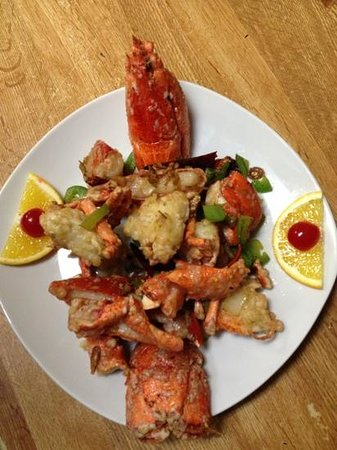 Chef Leu's House:                   salt & pepper lobster