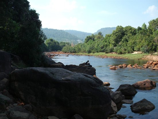 Kampot, Cambodia:                                     View upstream