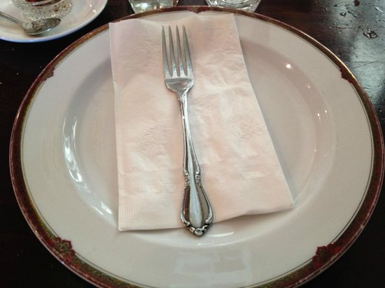 New Krungthai Restaurant:                   Plate, Napkin, and Fork