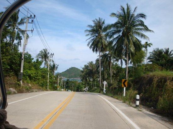 Koh Phangan Dreamland Resort:                   Anfahtsstrasse