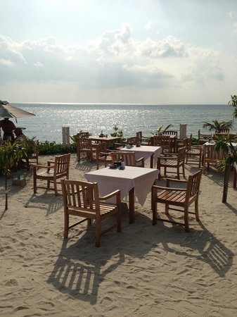 Mai Samui Resort & Spa:                   beach dining