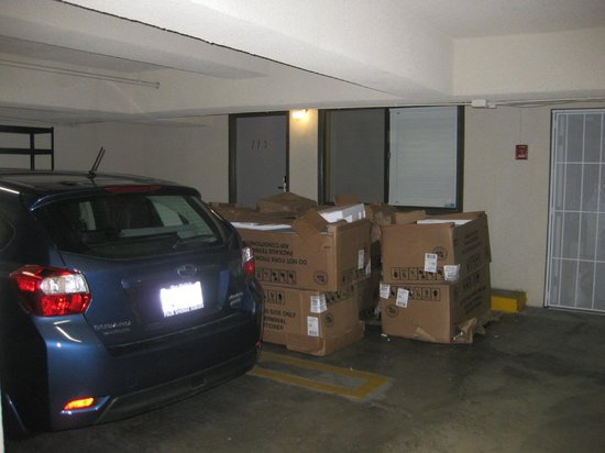 Ramada Pasadena:                   Room  door blocked