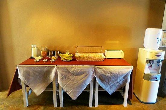 Non La Mer Hostel: Light Breakfast service from 07.00 - 10.00 daily
