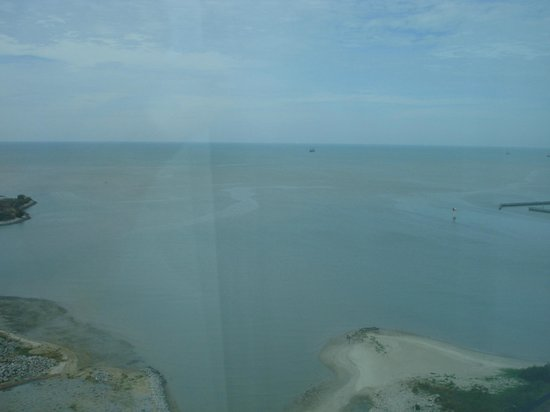 Holiday Inn Melaka:                   Straits view from our suite