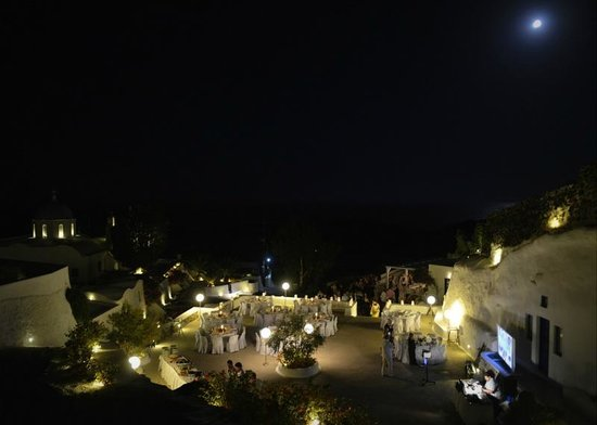 Aghios Artemios Traditional Houses:                   Courtyard set up for wedding reception
