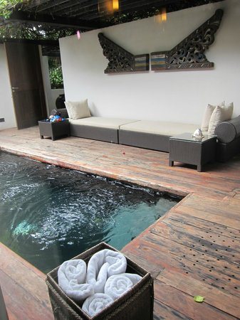 Abaca Boutique Resort: plunge pool