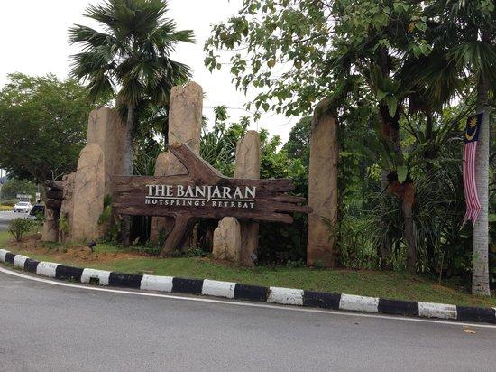 The Banjaran Hotsprings Retreat:                   entrance                 