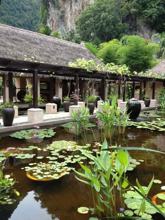 The Banjaran Hotsprings Retreat:                   view from reception