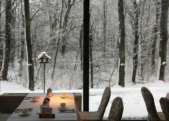 Spirit Hotel Thermal Spa:                   breakfast room - my favorit view to watch the birdies...
