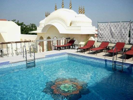 Terrace Swimming Pool Picture Of Khandela Haveli Jaipur Tripadvisor
