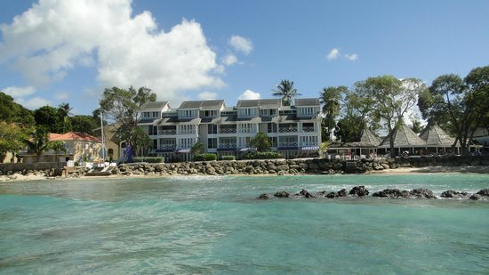 The Club, Barbados Resort and Spa:                   Hotel from the sea