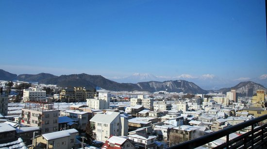 Ryokan Biyunoyado: The view from our room