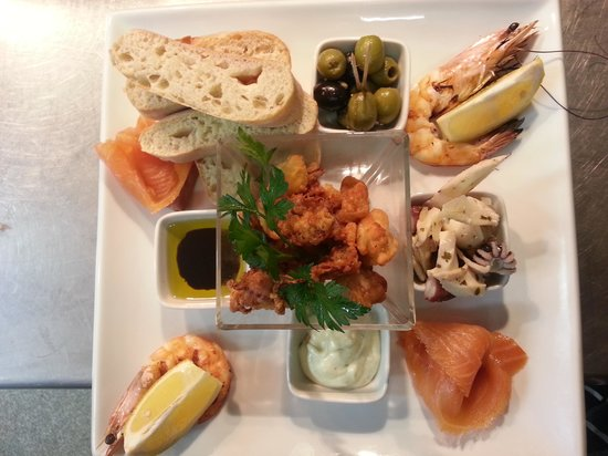 La Pergola:                                                       seafood antipasti