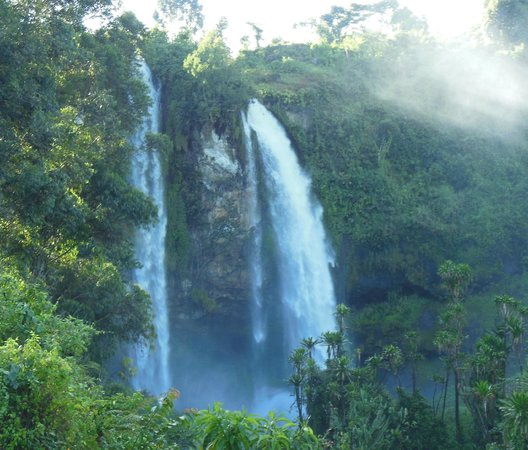Kapchorwa, Uganda:                   first falls you see
