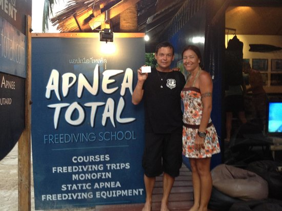 Apnea Total - Day Courses:                   Certificated!