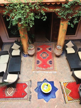 La Maison Arabe:                   le patio