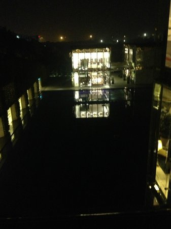 The Oberoi - TEMPORARILY CLOSED:                   The view of the Gucci shop at night from the Lobby