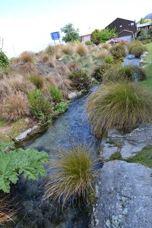 Clearbrook Motel Wanaka:                                     Another view of the brook