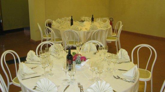 Villa Leccarda: apparecchiatura cerimonia
