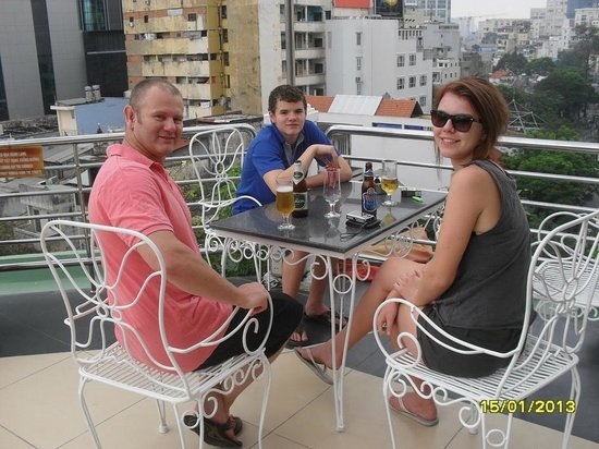 Huong Sen Hotel:                   The rooftop is a grat spot to hang out.                 